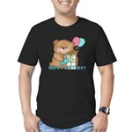 Boo Boo Bear Birthday 1 Men's Fitted T-Shirt (dark