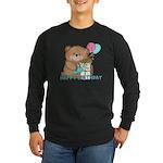 Boo Boo Bear Birthday 1 Long Sleeve Dark T-Shirt