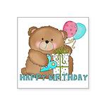 Boo Boo Bear Birthday 1 Square Sticker 3