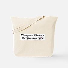 La Conchita girl Tote Bag