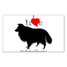 Shetland Sheepdog Rectangle Decal