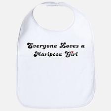 Mariposa girl Bib