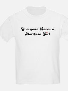 Mariposa girl Kids T-Shirt