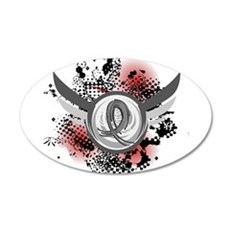 Wings and Ribbon Parkinson's Wall Decal
