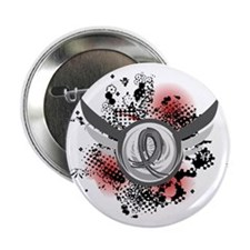 """Wings and Ribbon Parkinson's 2.25"""" Button"""