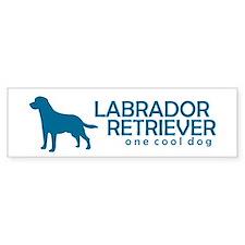 """Labrador Retriever """"One Cool Dog"""" Bumper Bumper Sticker"""
