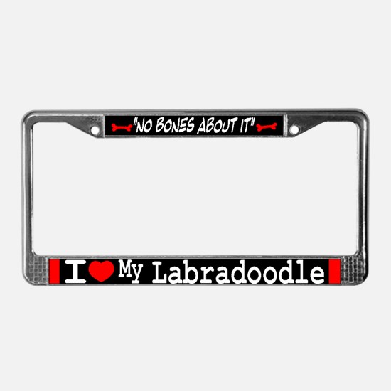 Labradoodle Gifts License Plate Frame