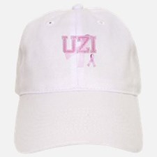 UZI initials, Pink Ribbon, Baseball Baseball Cap