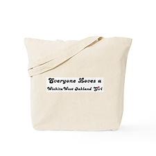 West Oakland girl Tote Bag