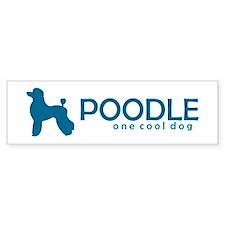 "Poodle ""One Cool Dog"" Bumper Bumper Sticker"