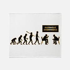 Alcoholic Anonymous Throw Blanket