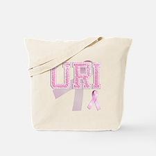 URI initials, Pink Ribbon, Tote Bag