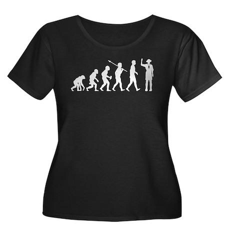 Boy Scout Women's Plus Size Scoop Neck Dark T-Shir