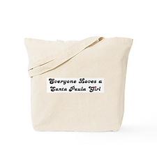 Santa Paula girl Tote Bag