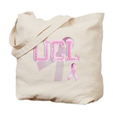 UCL initials, Pink Ribbon, Tote Bag