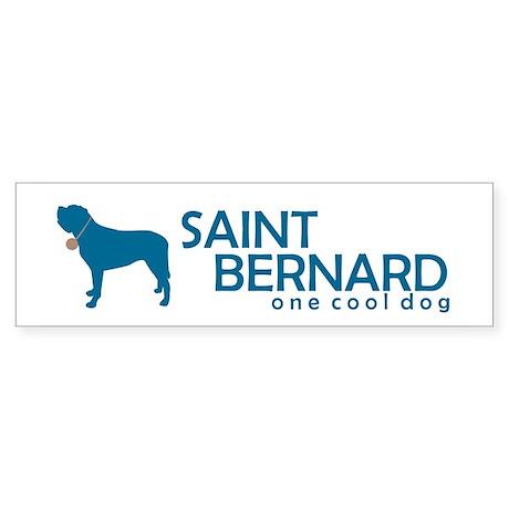 """St. Bernard """"One Cool Dog"""" Bumper Sticker"""