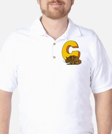 C is for Cat Golf Shirt