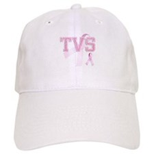 TVS initials, Pink Ribbon, Baseball Cap
