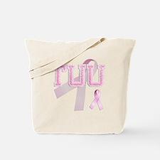 TUU initials, Pink Ribbon, Tote Bag
