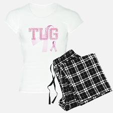 TUG initials, Pink Ribbon, Pajamas