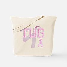 TUG initials, Pink Ribbon, Tote Bag