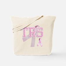 TRS initials, Pink Ribbon, Tote Bag