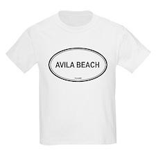 Avila Beach oval Kids T-Shirt