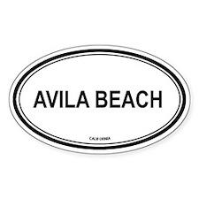 Avila Beach oval Oval Decal