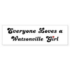 Watsonville girl Bumper Bumper Sticker