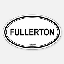 Fullerton oval Oval Decal