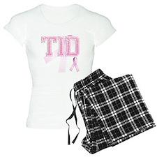 TID initials, Pink Ribbon, Pajamas