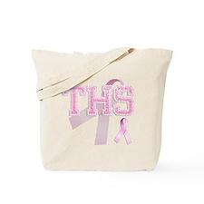 THS initials, Pink Ribbon, Tote Bag
