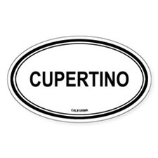 Cupertino oval Oval Decal