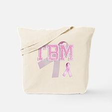 TBM initials, Pink Ribbon, Tote Bag