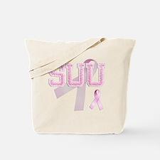 SUU initials, Pink Ribbon, Tote Bag