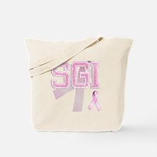 SGI initials, Pink Ribbon, Tote Bag