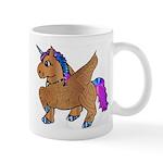 Brown Unicorn maze Mug