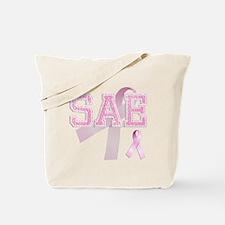 SAE initials, Pink Ribbon, Tote Bag