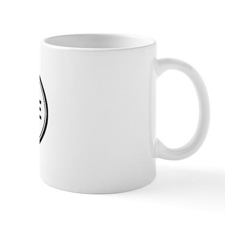 Downieville oval Mug