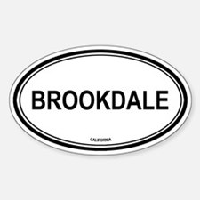 Brookdale oval Oval Decal