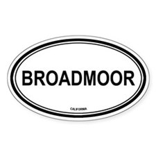 Broadmoor oval Oval Decal