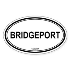 Bridgeport oval Oval Decal