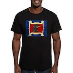 Dachshund Framed by Woman Men's Fitted T-Shirt (da