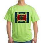 Dachshund Framed by Woman Green T-Shirt