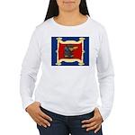 Dachshund Framed by Woman Women's Long Sleeve T-Sh