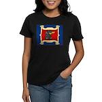 Dachshund Framed by Woman Women's Dark T-Shirt