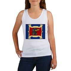 Dachshund Framed by Woman Women's Tank Top