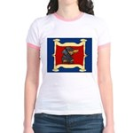 Dachshund Framed by Woman Jr. Ringer T-Shirt