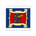 Dachshund Framed by Woman Square Sticker 3