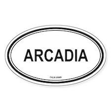 Arcadia oval Oval Decal